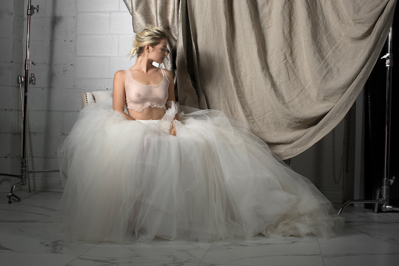 custom wedding dress - white gown