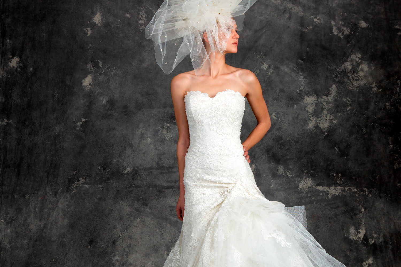 custom wedding dress - white bride