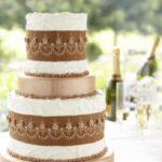 Metallic Pattern Cake