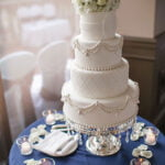 White Imprint Wedding Cake