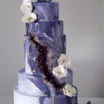 Wedding Cakes for Summer Season - Cracked Geode cake idea