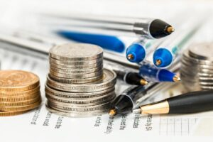 coins and pencils