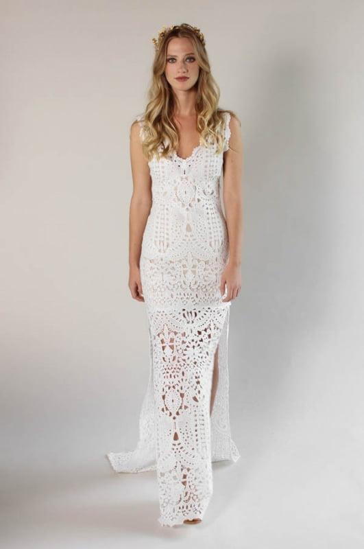 Crochet Lace Dress (Claire Pettibone – Laguna)