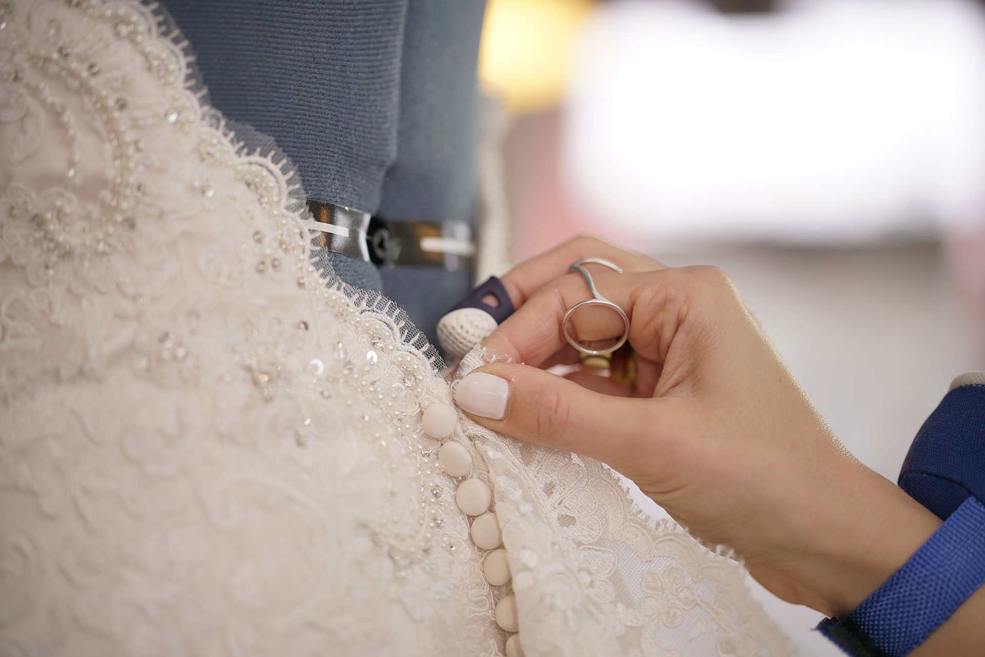 Wedding dress size adjustments