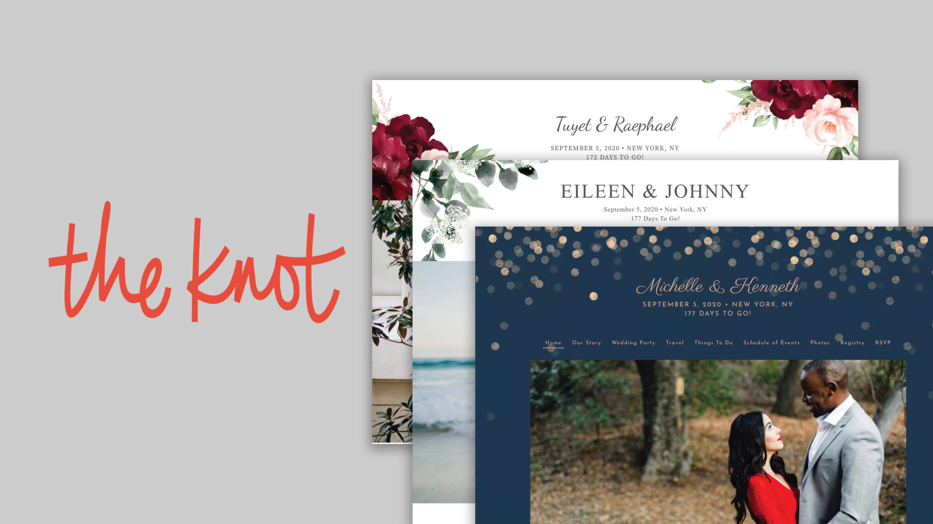 wedding website builder: theknot.com