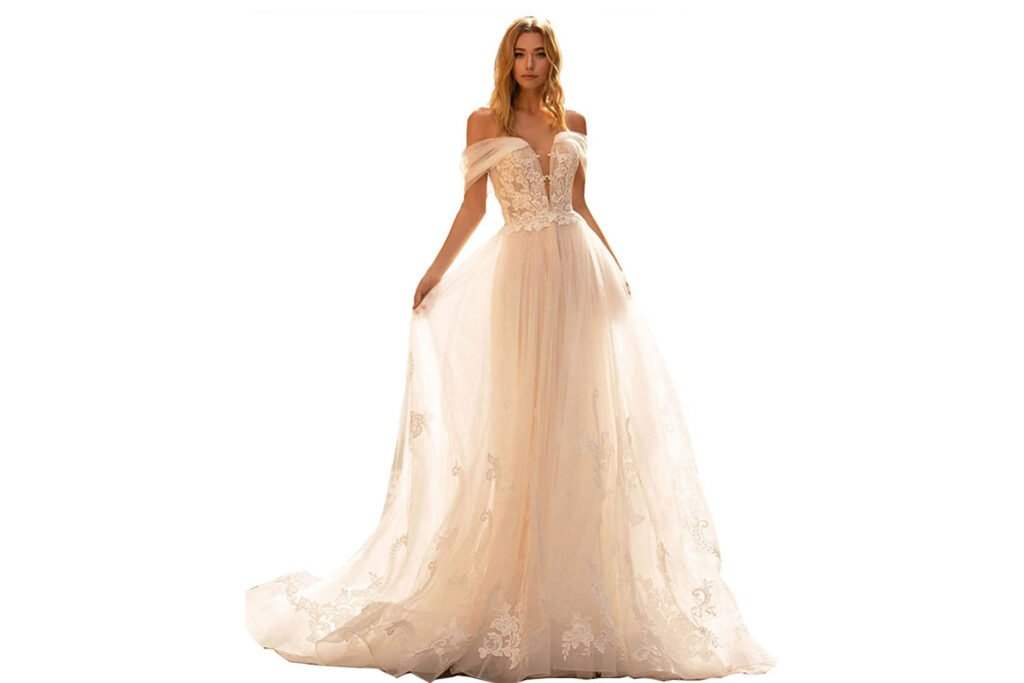 Fanciest Women's Lace Dresses for Bride 2021 Ball Gown