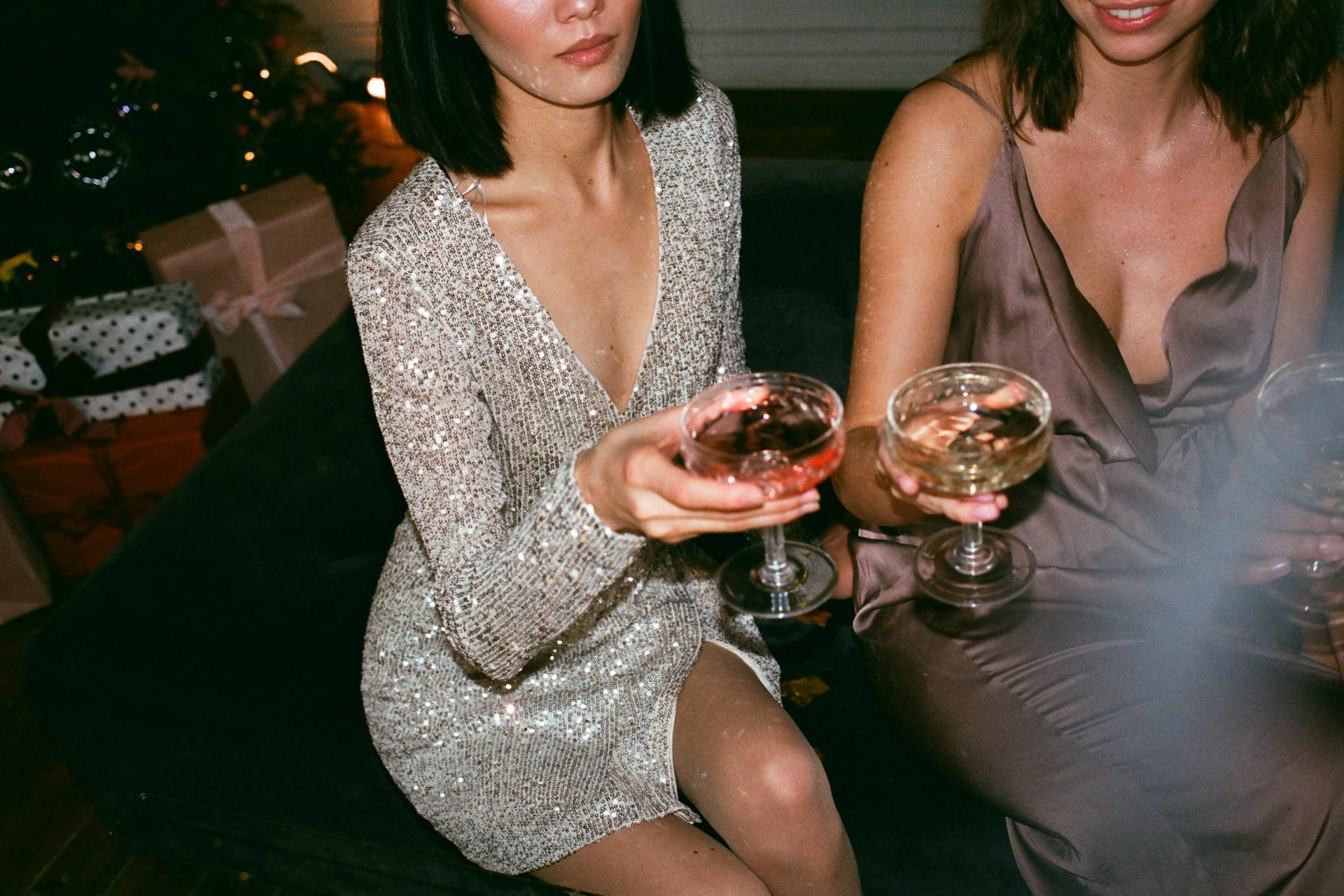 Two Women Holding Wine Glasses