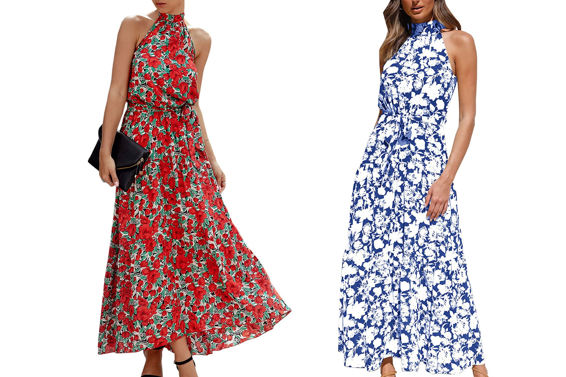 Types of Summer Dresses V Neck Backless Maxi Party Evening Dress