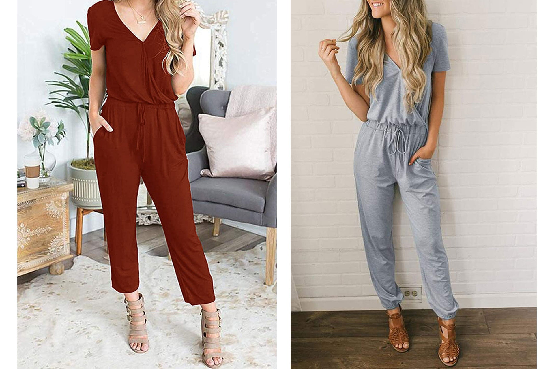 what type of dress to wear to a summer wedding:  Jumpsuit Romper with Pockets