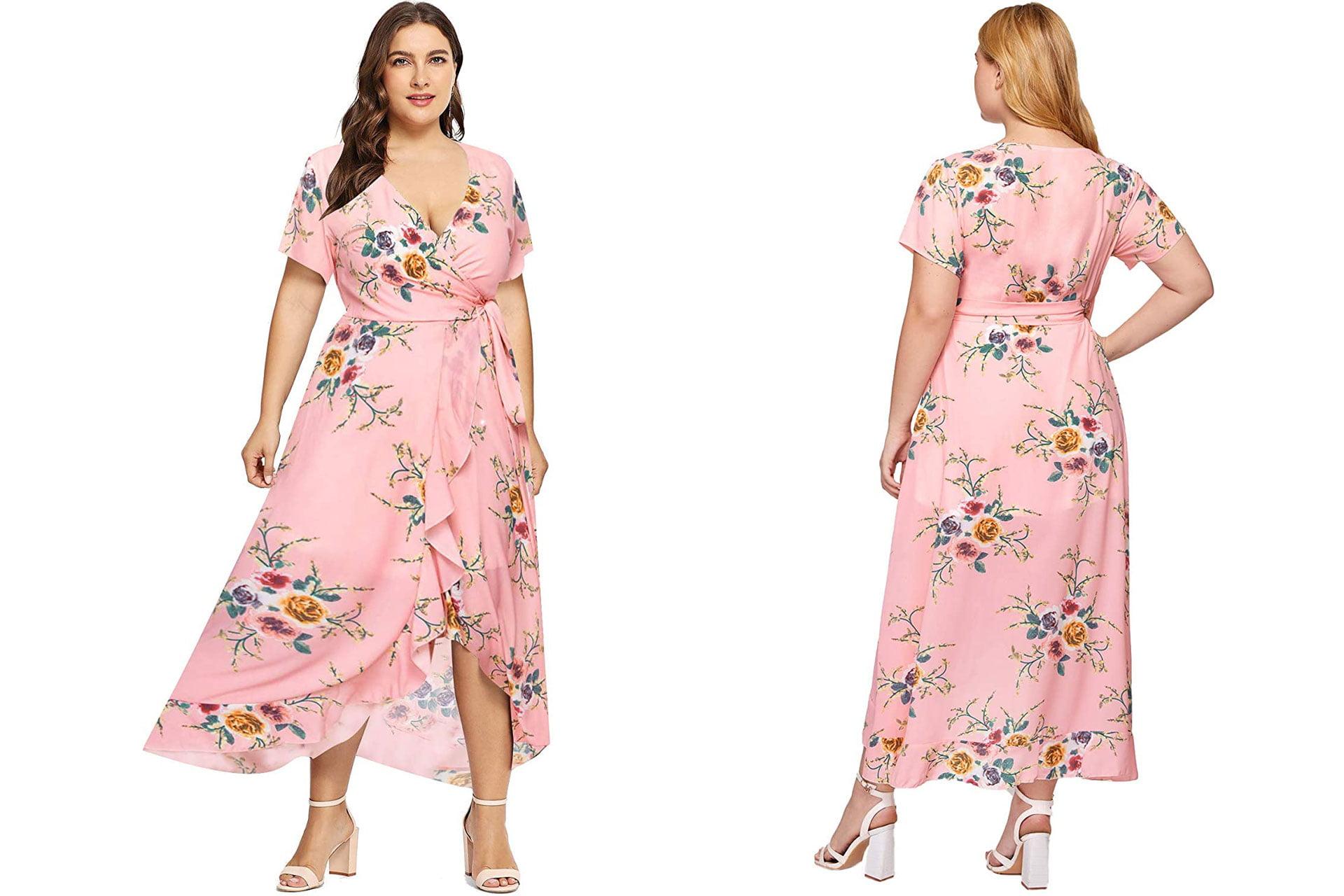 Milumia Empire Waist Asymmetrical High Low Bohemian Maxi Dress