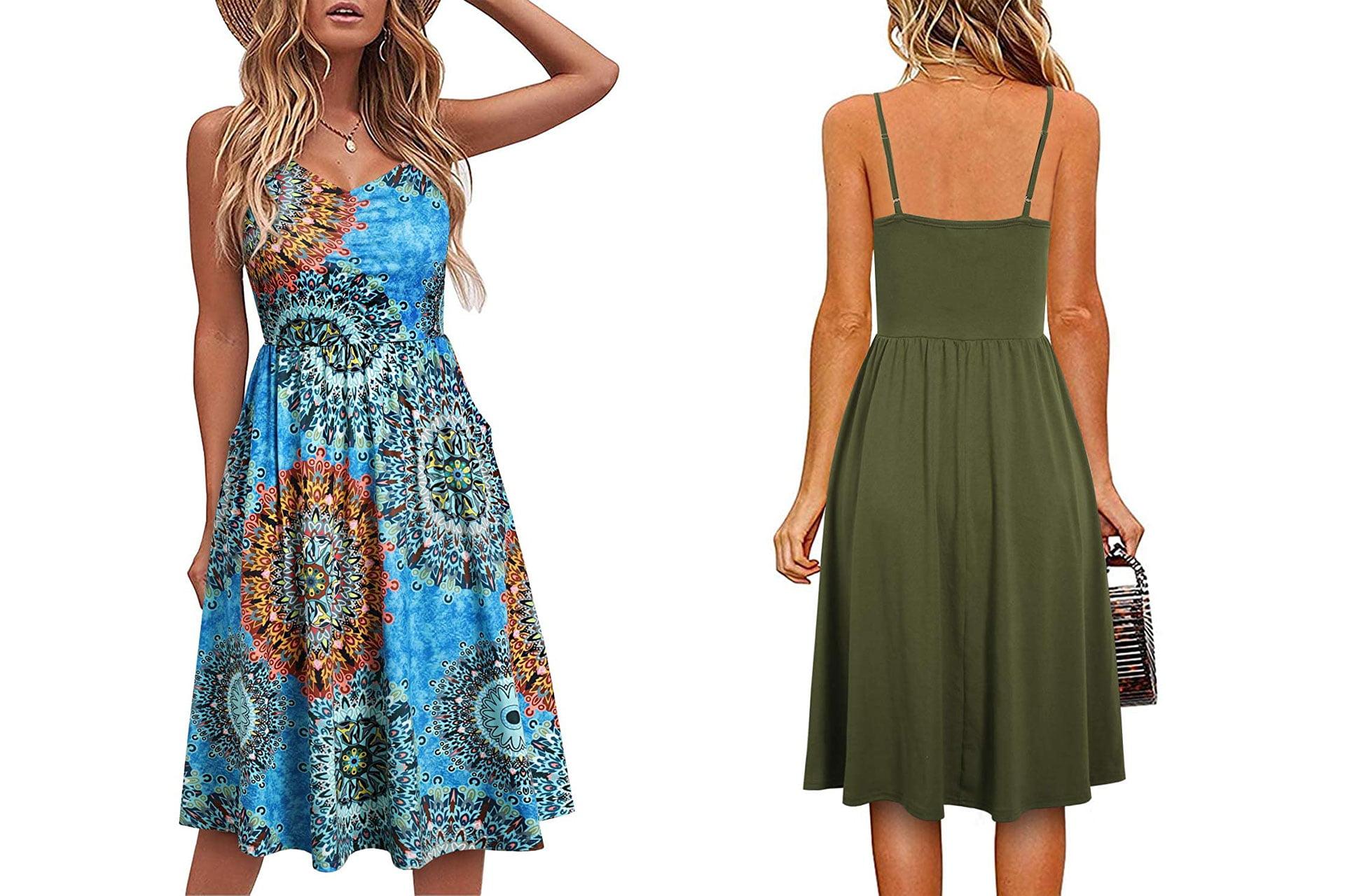 YATHON Cotton Summer Beach Dress