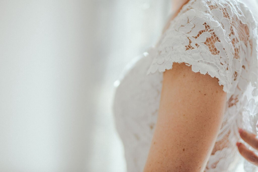 how to add sleeves to a wedding dress